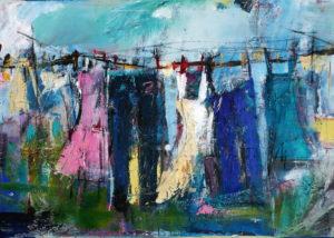 Frühling auf der Wäscheleine