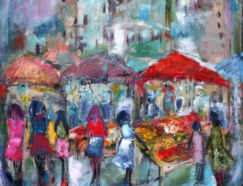 Marktplatz – 120 x 100 cm