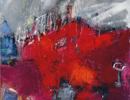 Wanderung abstrakt – 100 x 100 cm