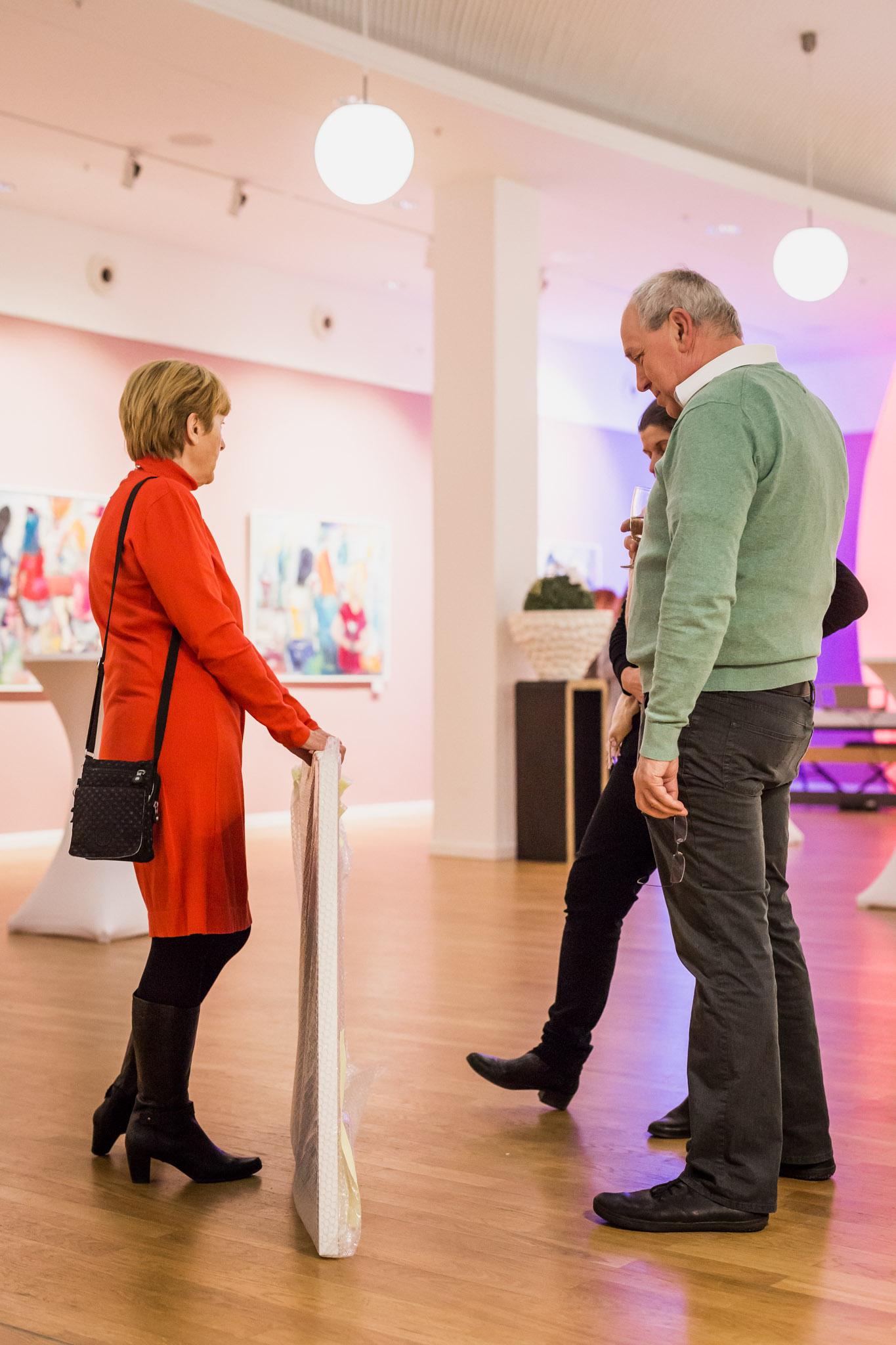 Vernissage von Künstlerin Simone Hennig am 22.02.2018 in Ludwigsfelde